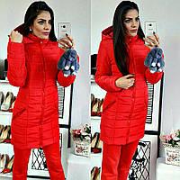 Куртка зимняя, модель  212, красный