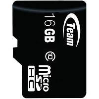 Карта памяти TEAM 16 GB micro SDHC сlass 10 для планшета смартфона Samsung микро сд класс 10 высокоскоростная