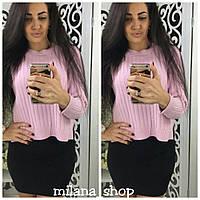 Модная женская кофта лапша №1165 с разрезами по бокам(3 цета)