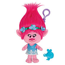 Мягкая игрушка «Trolls» (6202A) тролль с клипсой принцесса Розочка (Poppy), 22 см