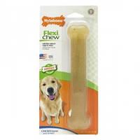 Nylabone Flexi Chew Giant НИЛАБОН ФЛЕКСИ ЧЬЮ жевательная игрушка кость для собак до 23 кг с умеренным стилем грызения, вкус курицы19.6см