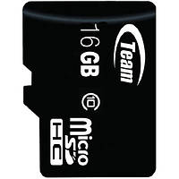 Карта памяти TEAM 16 GB microSDHC сlass 10 высокоскоростная для планшета смартфона