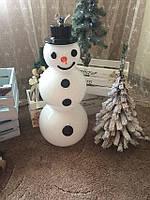Снеговик декоративный из стекла, 75 см. Польша.