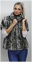Женский жилет из меха 416 Леопард хаки