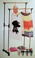 Двойная телескопическая стойка для одежды - Double Pole Clother Hose