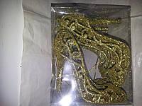 """Елочное украшение """"золотая туфелька""""4шт"""