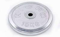 Блины для штанги хром 15кг(диам. 30мм) ТА-1455