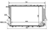 51318 NRF Радиатор охлаждения  AUDI  100 (4A, C4),  100 Avant (4A, C4),  A6 (4A, C4),