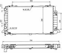 50528 NRF Радиатор охлаждения   AUDI 80 91-