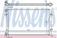 65277 NISSENS Радиатор охлаждения   AUDI A 3 / S 3 (03-) 1.6 FSI (+)