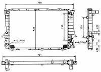 51319 NRF Радиатор охлаждения   AUDI 100 90-