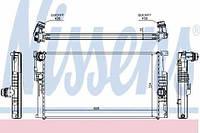 60816 NISSENS Радиатор охлаждения   BMW 1 F20-F21 (11-) 118 I (+)