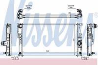 60817 NISSENS Радиатор охлаждения   BMW 1 F20-F21 (11-) 125 I (+)