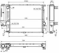 53852 NRF Радиатор охлаждения   BMW 518I 89-
