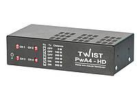 Комплект усилителей для четырехканальной передачи видеосигнала TWIST PwA4-HD