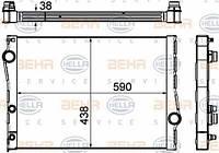 8MK376753-001 HELLA Радиатор охлаждения   BMW X5 (E70) 3.0D 07-. X6 (E71, E72) 3.0D 07-