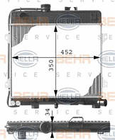8MK376713-261 HELLA Радиатор охлаждения   BMW 3 (E30) / 5 (E28)