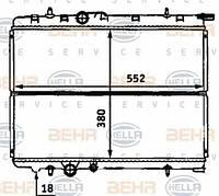 8MK376718-131 HELLA Радиатор охлаждения   CITROEN XSARA