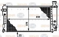 8MK376719-601 HELLA Радиатор охлаждения   PEUGEOT 405