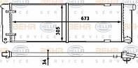 8MK376714-641 HELLA Радиатор охлаждения   VOLKSWAGEN GOLF II / SCIROCCO/DIV