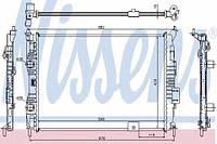 67364 NISSENS Радиатор охлаждения    NISSAN QASHQAI 1.6I 07-