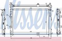 67361 NISSENS Радиатор охлаждения    NISSAN QASHQAI 2.0 D 07-