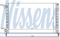 61767 NISSENS Радиатор охлаждения   FIAT DOBLO 1.9 D 01-