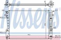 63072A NISSENS Радиатор охлаждения   OPEL OMEGA B 2.0-2.5 AUT. 94-