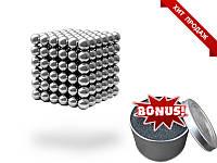 Неокуб Neocube 5мм никель 216 шариков. Отлинчый оригинальный подарок другу, парню. подарок