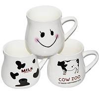 "Чашка  ""Молочная крынка"" 400 мл. Дизайн пятна с надписью milk"