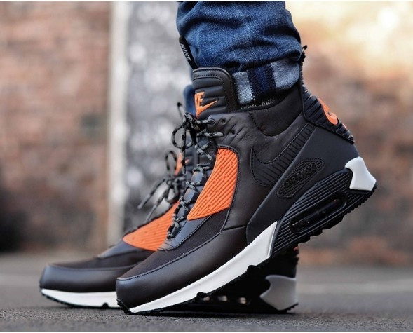 75725be6d08a Кроссовки Nike Air Max 90 SneakerBoot Brown Crimson - Интернет-магазин