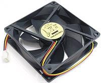 БУ Вентилятор для корпуса 80x80x25мм 3pin (80x80x25)