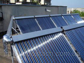 Способ монтажа вакуумных солнечных панелей на плоской крыше