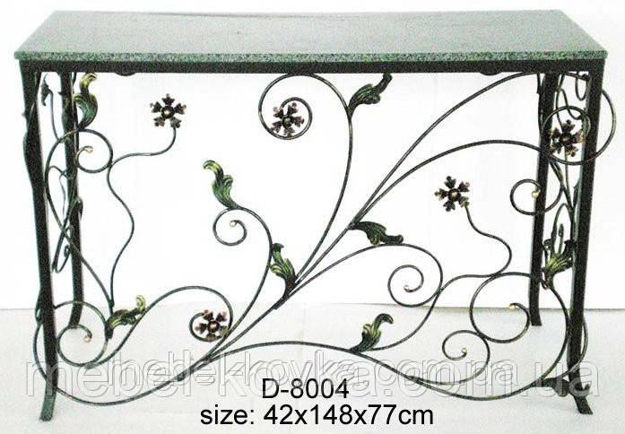 Кованый стол с цветочным рисунком 6