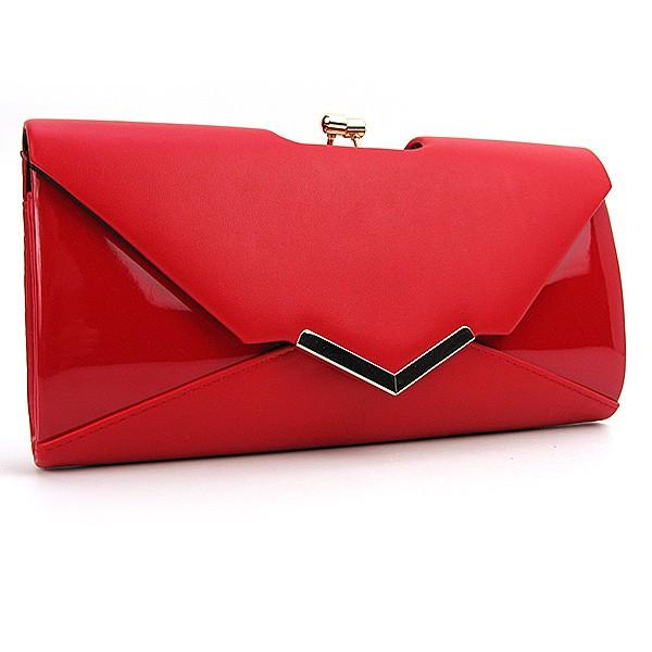b8d5883b230c Женская сумка-клатч красная матовая лаковая - Интернет магазин сумок  SUMKOFF - женские и мужские