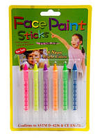 Грим, аквагрим, краски для лица неоновые. Карандаши пластик.