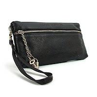 Кожаный черный клатч Louis Vuitton, фото 1