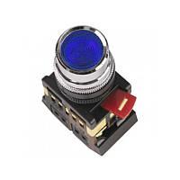 Кнопка ABLFS-22 синій d22мм неон/240В 1з+1р IEK
