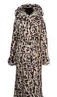 Женский махровый халат-Тигровый