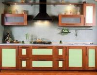 Кухни на  заказ. ФАСАДЫ:  ДСП, дерево, стекло, алюминий, AGT