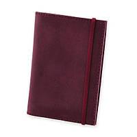 Обложка для паспорта кожаная виноград (ручная работа)