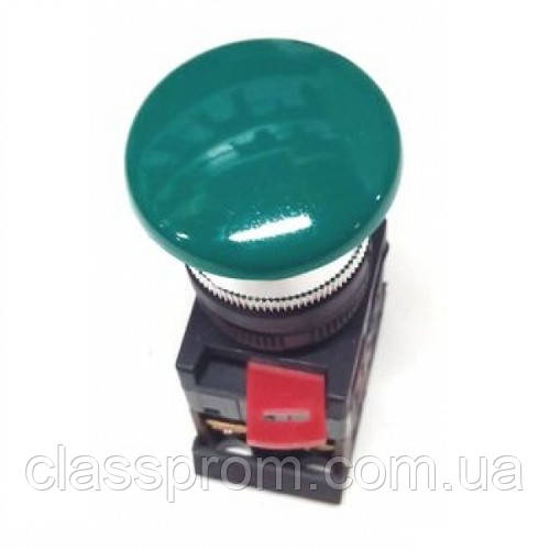 "Кнопка AEА-22 ""Грибок"" зеленый d22мм 1з+1р IEK"