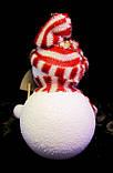 Ялинкова іграшка-Сніговик-16,0 див.-6 шт., фото 3