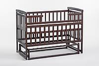 Кровать детская Детский сон из сосны с маятником без шухляд, орех
