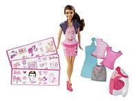 Кукла Барби с набором для дизайна Barbie Iron On Style African American Doll Few Simple Steps