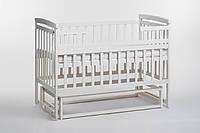 Кровать детская Детский сон из ольхи с маятником без шухляд, ваниль