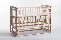 Кровать детская Детский сон из ольхи с маятником без шухляд, натураль