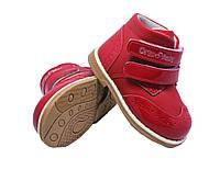 Ботинки детские демисезонные ортопедические ОrtoBaby D8103 красные натуральная кожа (размеры 22-31)
