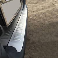 "Накладки на задний бампер ""Матовая"" (Omsa, нерж.) - Renault Trafic (2001-2007)"