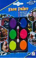 Краски для лица неоновые 6 шт